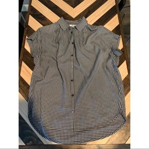 Madewell Central Plaid Gingham Button Up Shirt